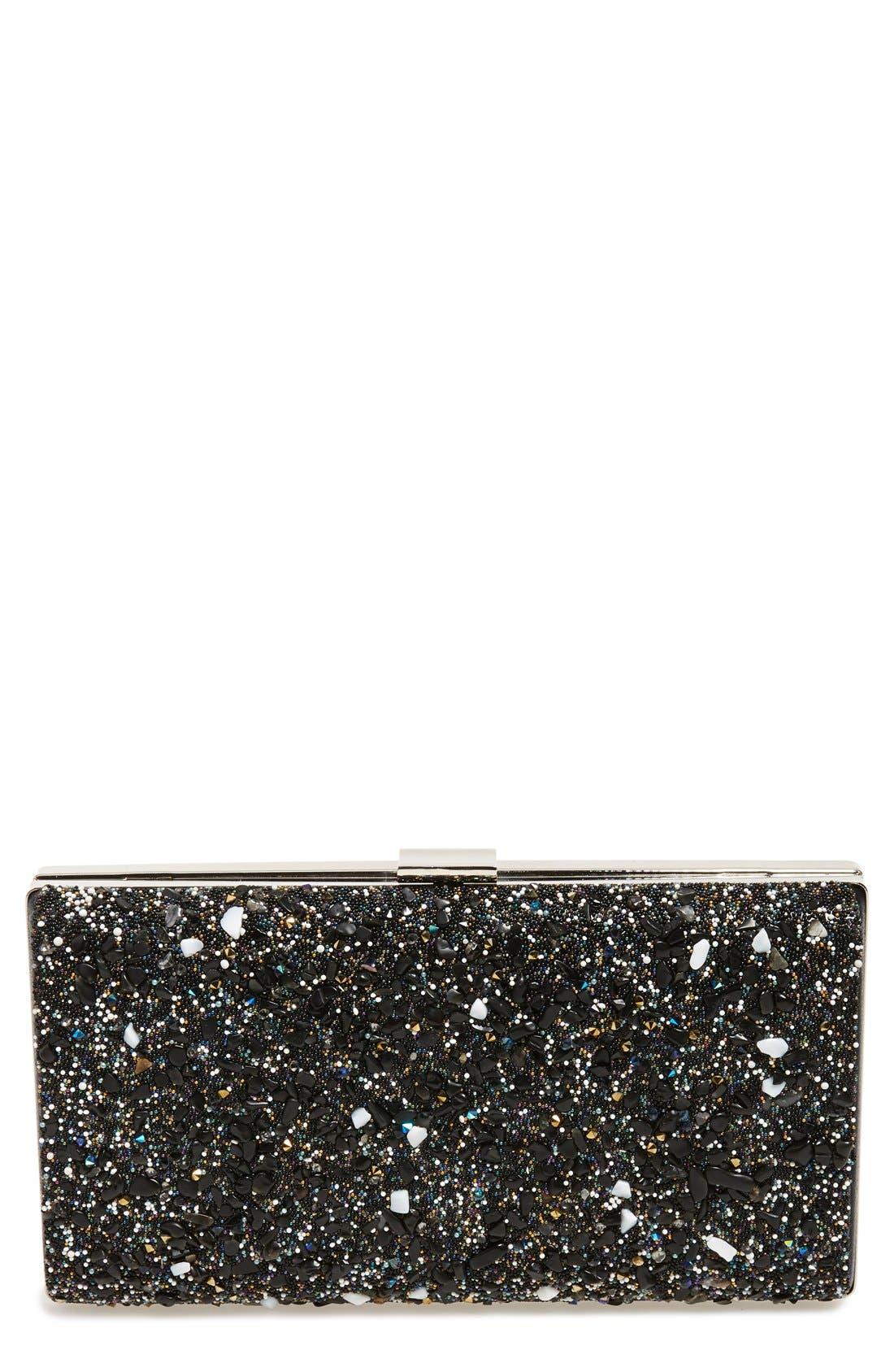 Main Image - Natasha Couture 'Starry Night' Box Clutch