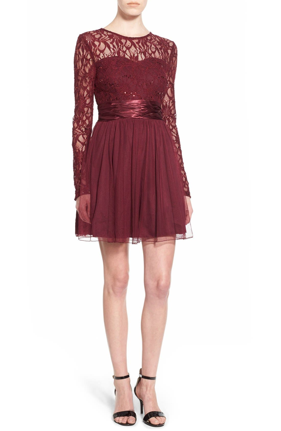 Main Image - Speechless Lace Bodice Fit & Flare Dress
