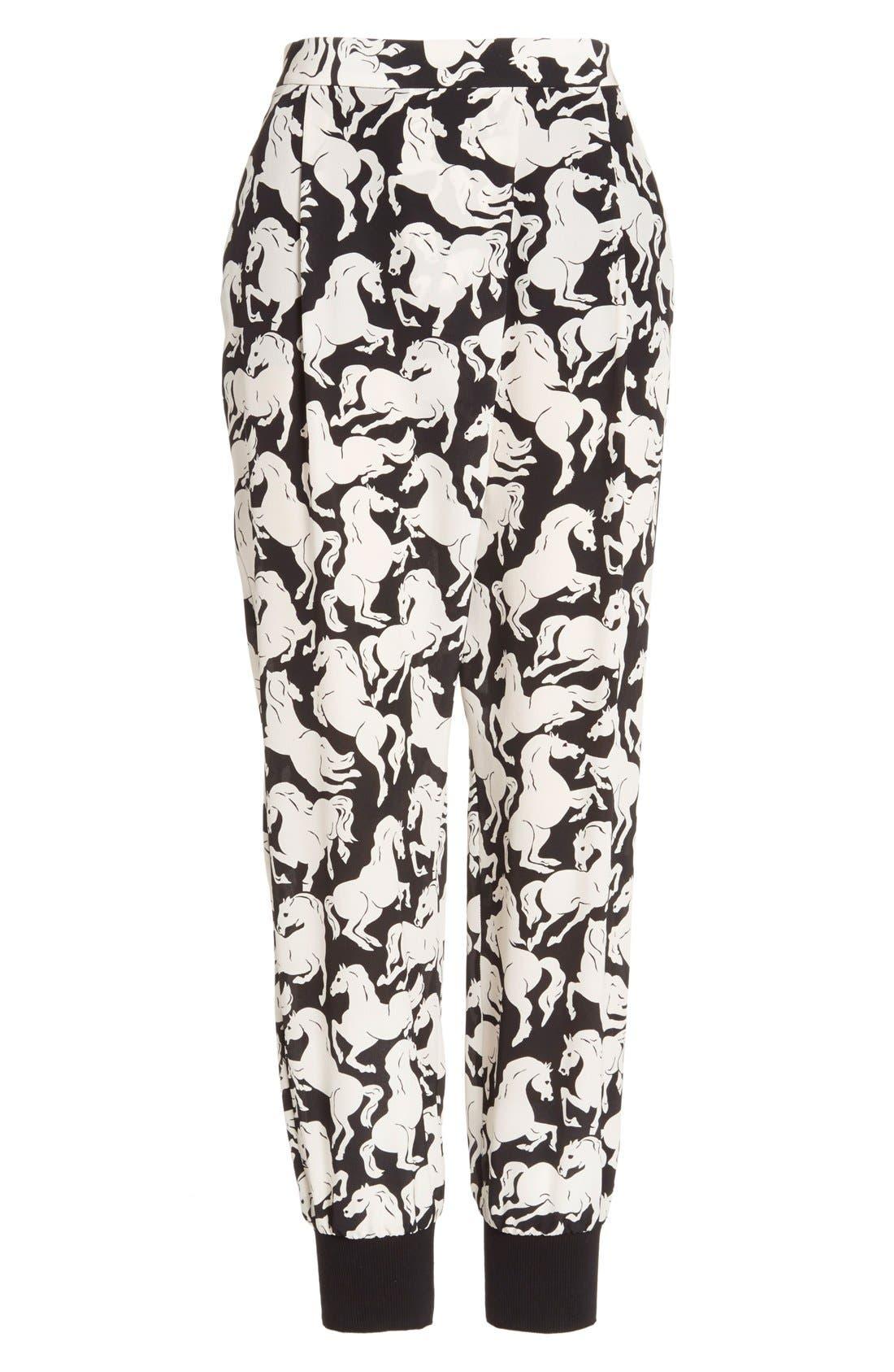 Alternate Image 4  - Stella McCartney 'Joey' Horse Print Silk Pants