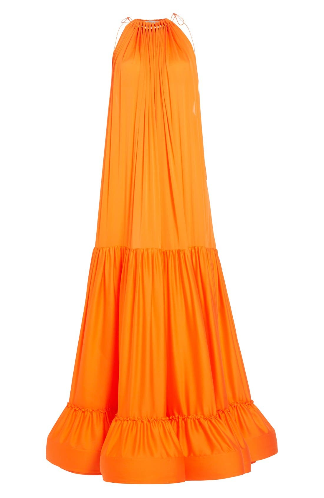 Alternate Image 4  - Stella McCartney High Neck Silk Parachute Gown