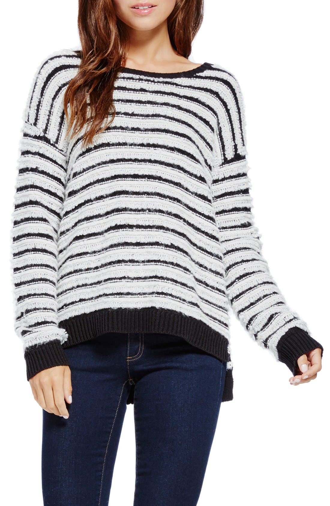 Alternate Image 1 Selected - Two by Vince Camuto Stripe Loopy Stitch Sweater