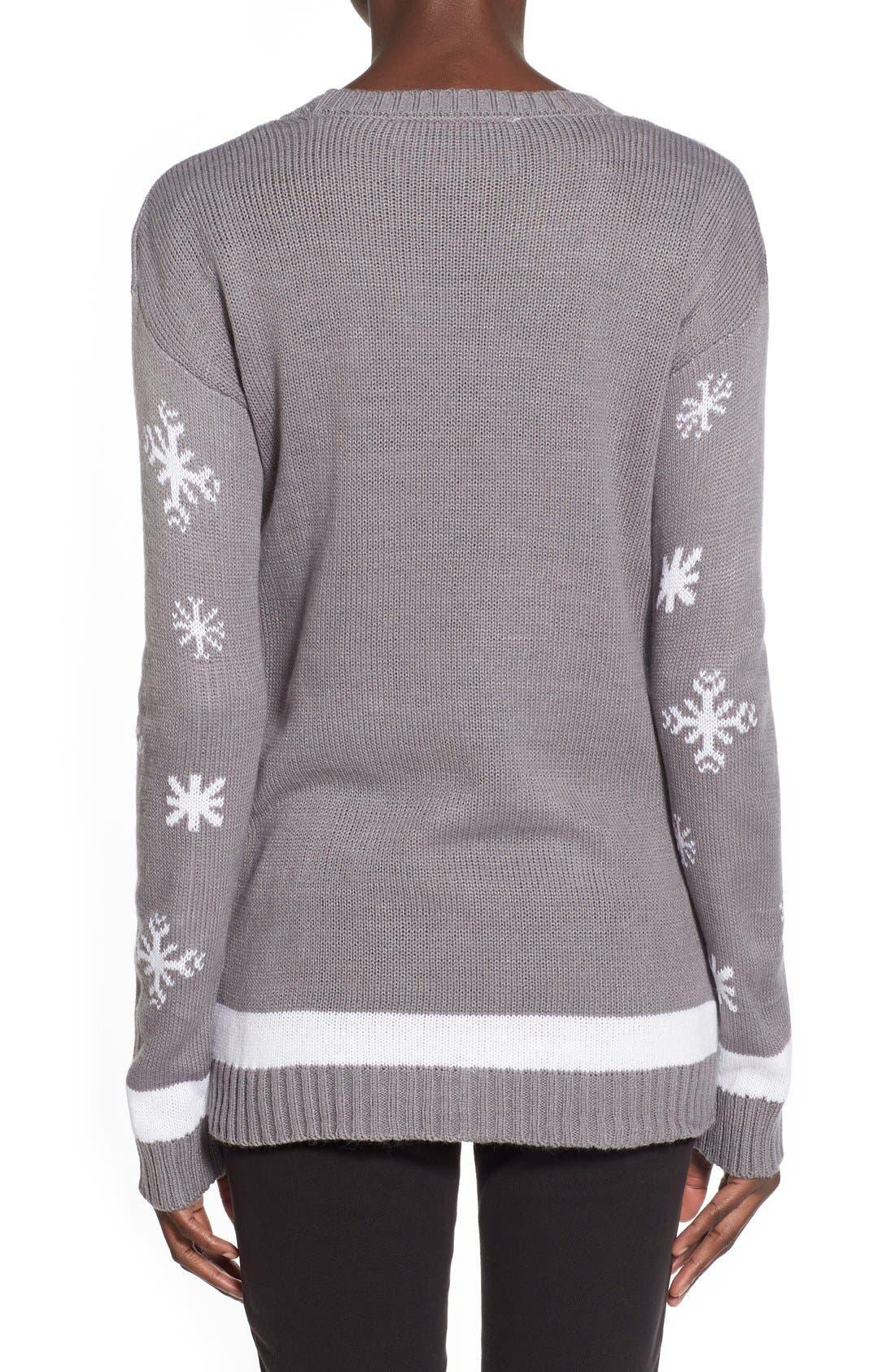 Alternate Image 2  - Derek Heart Polar Bear Christmas Sweater
