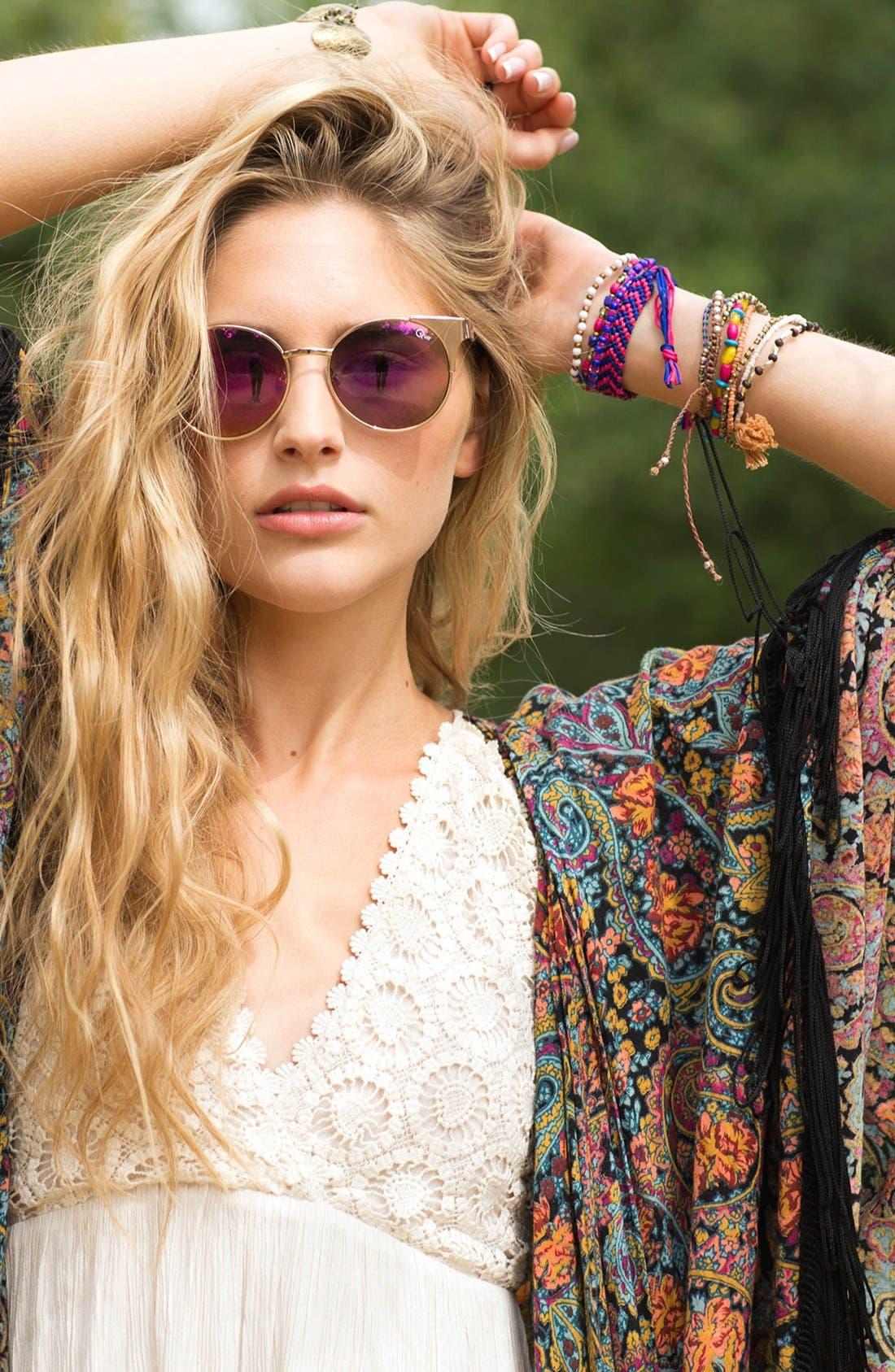 Alternate Image 3  - Quay Australia 'Asha' 50mm Metal Sunglasses