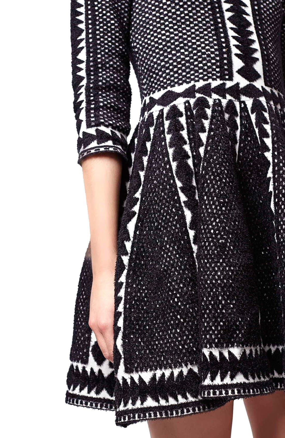 Alternate Image 5  - Topshop 'Premium' Fit & Flare Sweater Dress