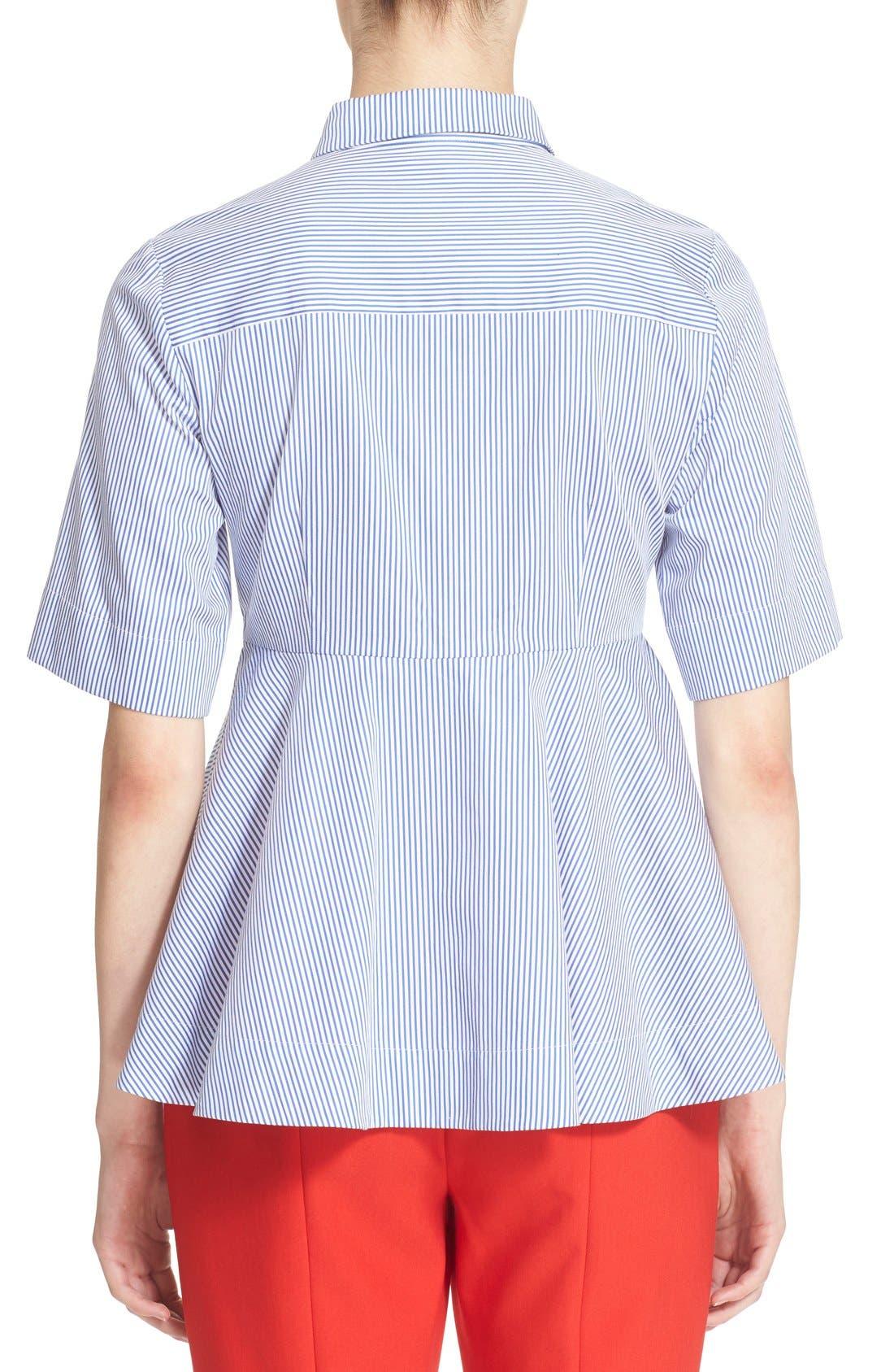 Alternate Image 2  - kate spade new york stripe peplum shirt