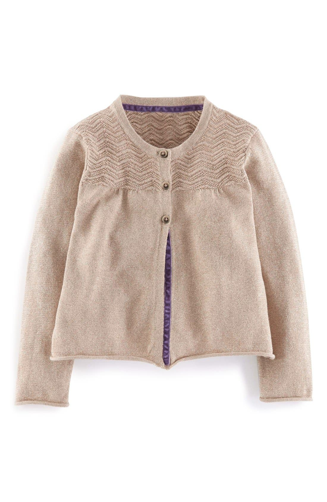 Main Image - Mini Boden Cotton & Cashmere Cardigan (Toddler, Little Girls & Big Girls)