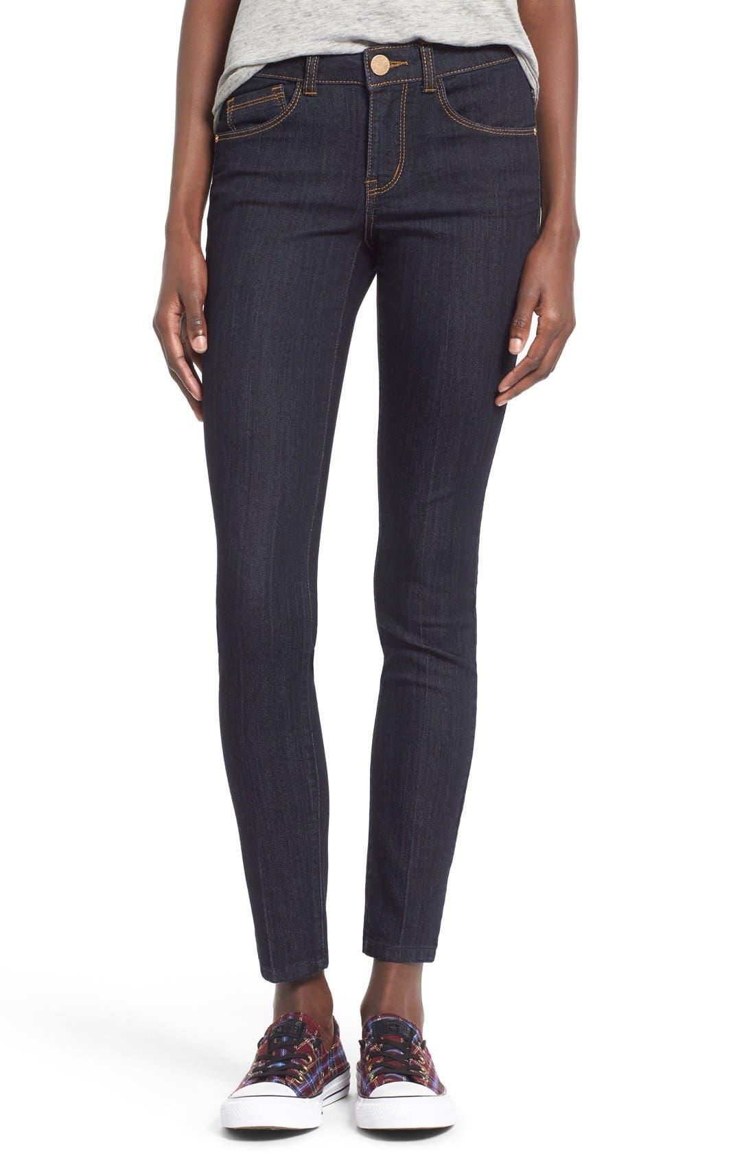 Alternate Image 1 Selected - Jolt Skinny Jeans (Indigo)