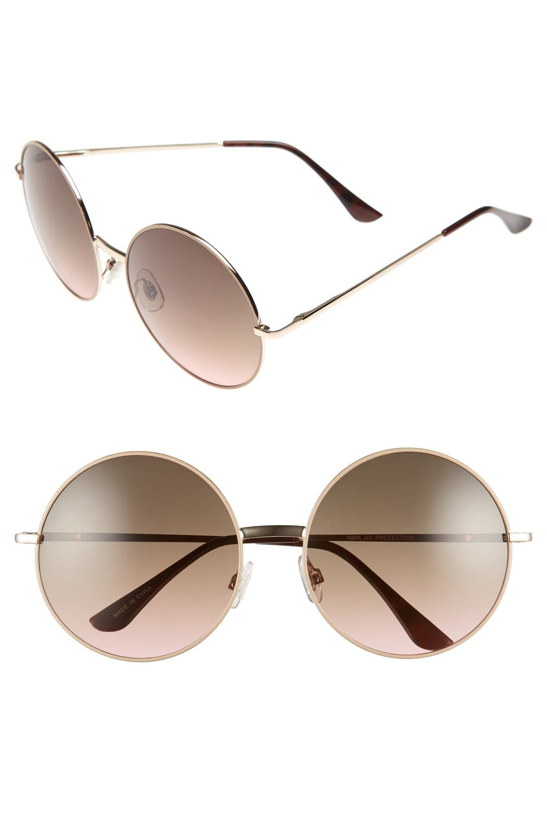 Alternate Image 1 Selected - BP. Retro Oversize 60mm Round Sunglasses