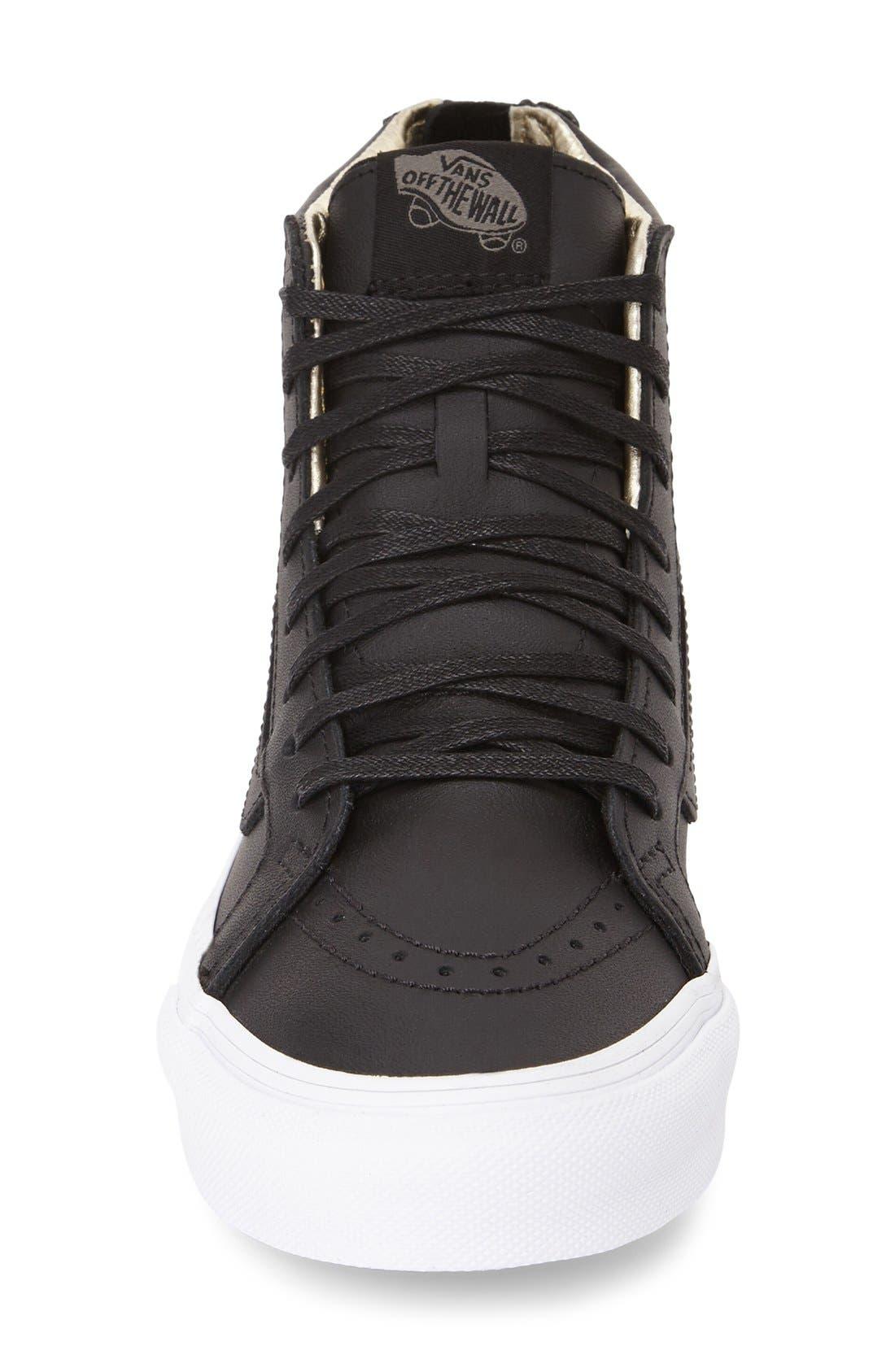 Alternate Image 3  - Vans 'Sk8-Hi Slim' Zip Sneaker (Women)