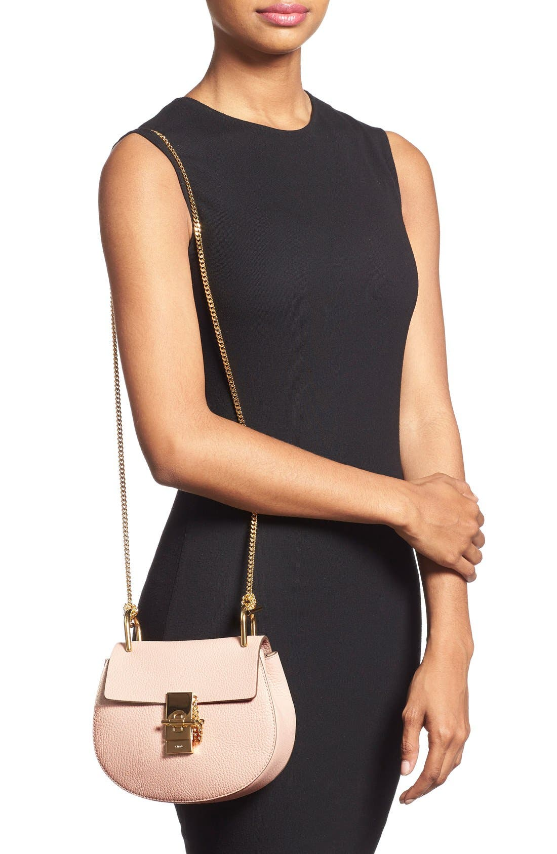 Alternate Image 2  - Chloé 'Mini Drew' Leather Shoulder Bag