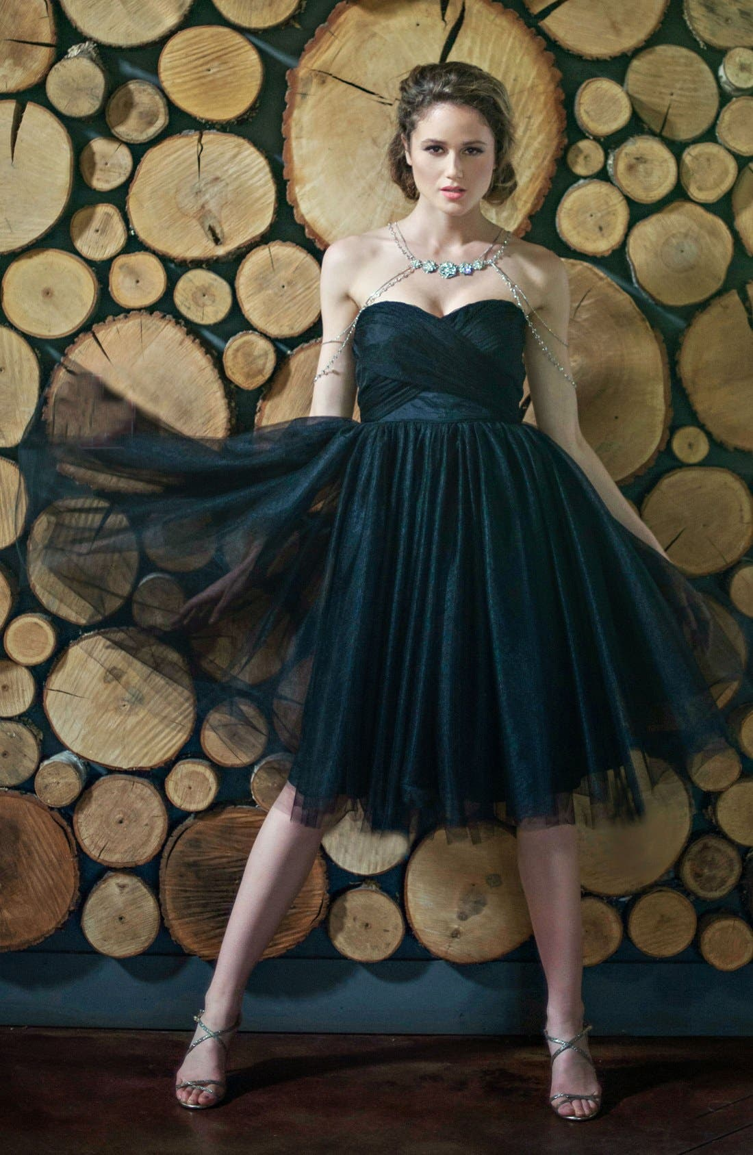 Alternate Image 5  - Donna Morgan 'Kenna' Strapless Tulle Fit & Flare Dress