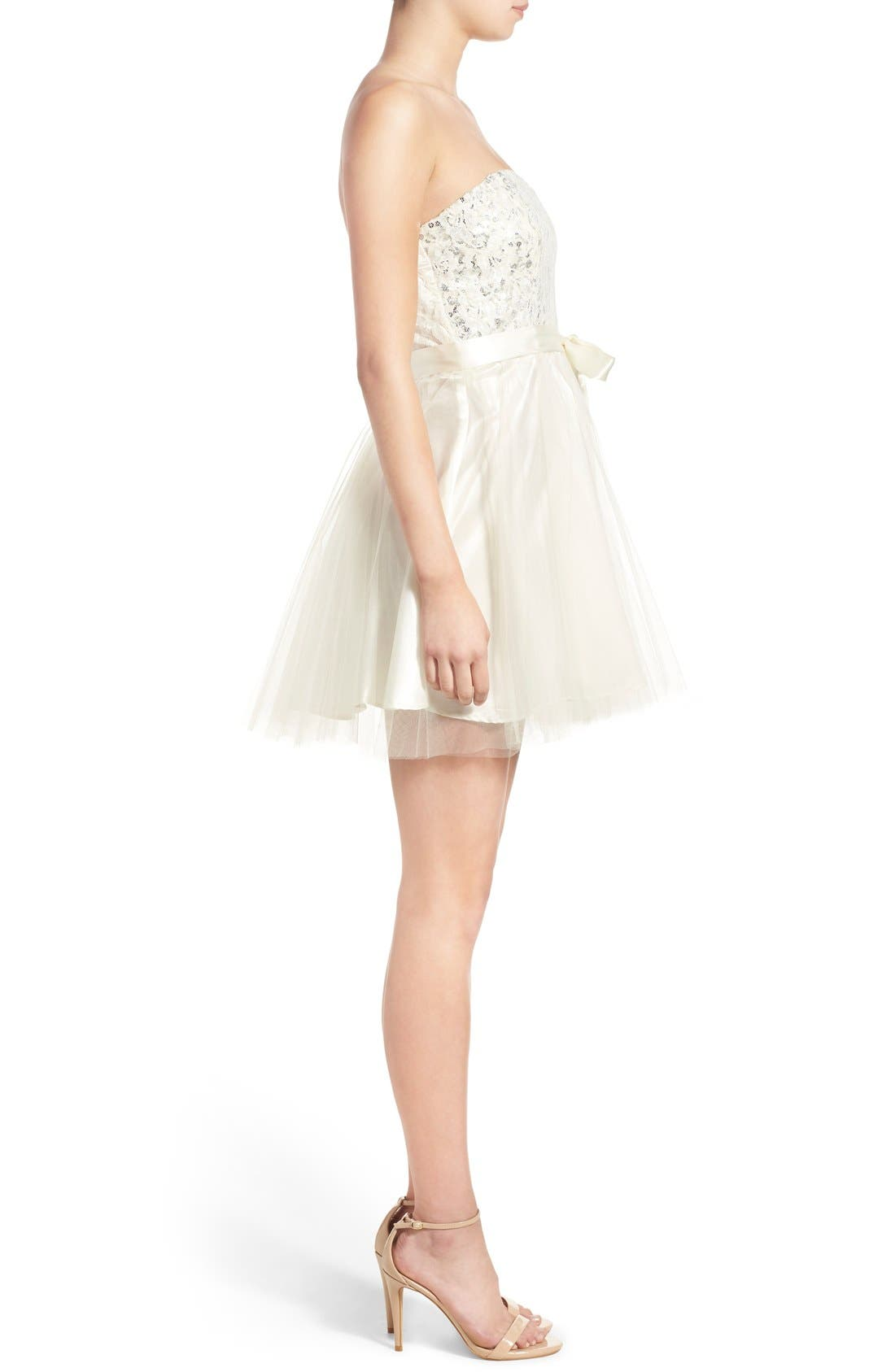 Alternate Image 3  - Steppin Out Strapless Tulle Party Dress