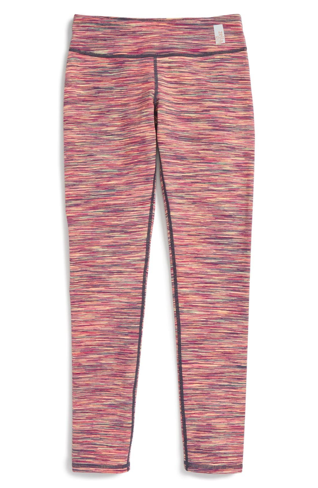 Alternate Image 1 Selected - Zella Girl 'Cosmic' Space Dye Leggings (Little Girls & Big Girls)