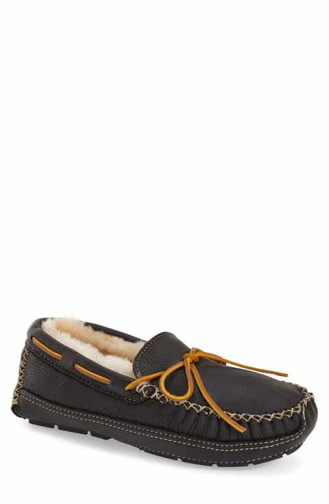 Minnetonka Genuine Shearling Leather Slipper (Men)