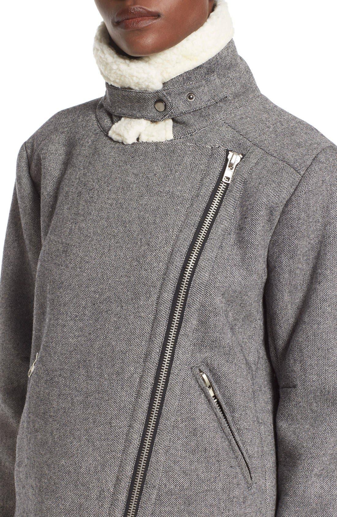 Alternate Image 4  - J.O.A. Raw Edge Moto Jacket
