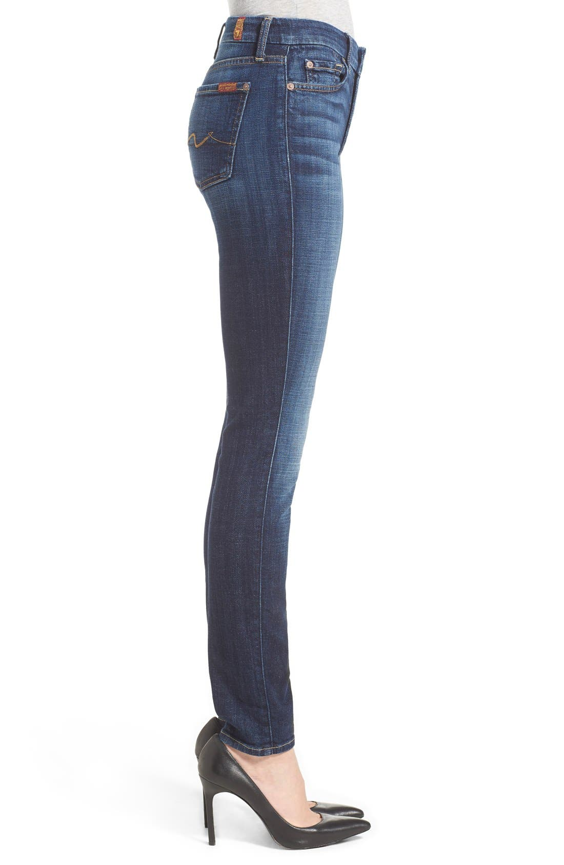 Alternate Image 3  - 7 For All Mankind® Skinny Jeans (Royal Broken Twill)