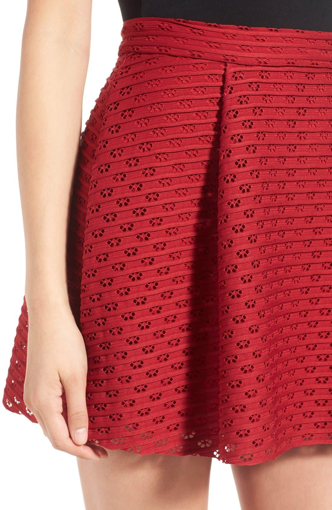 Alternate Image 4  - Lush Pleated Fit & Flare Miniskirt