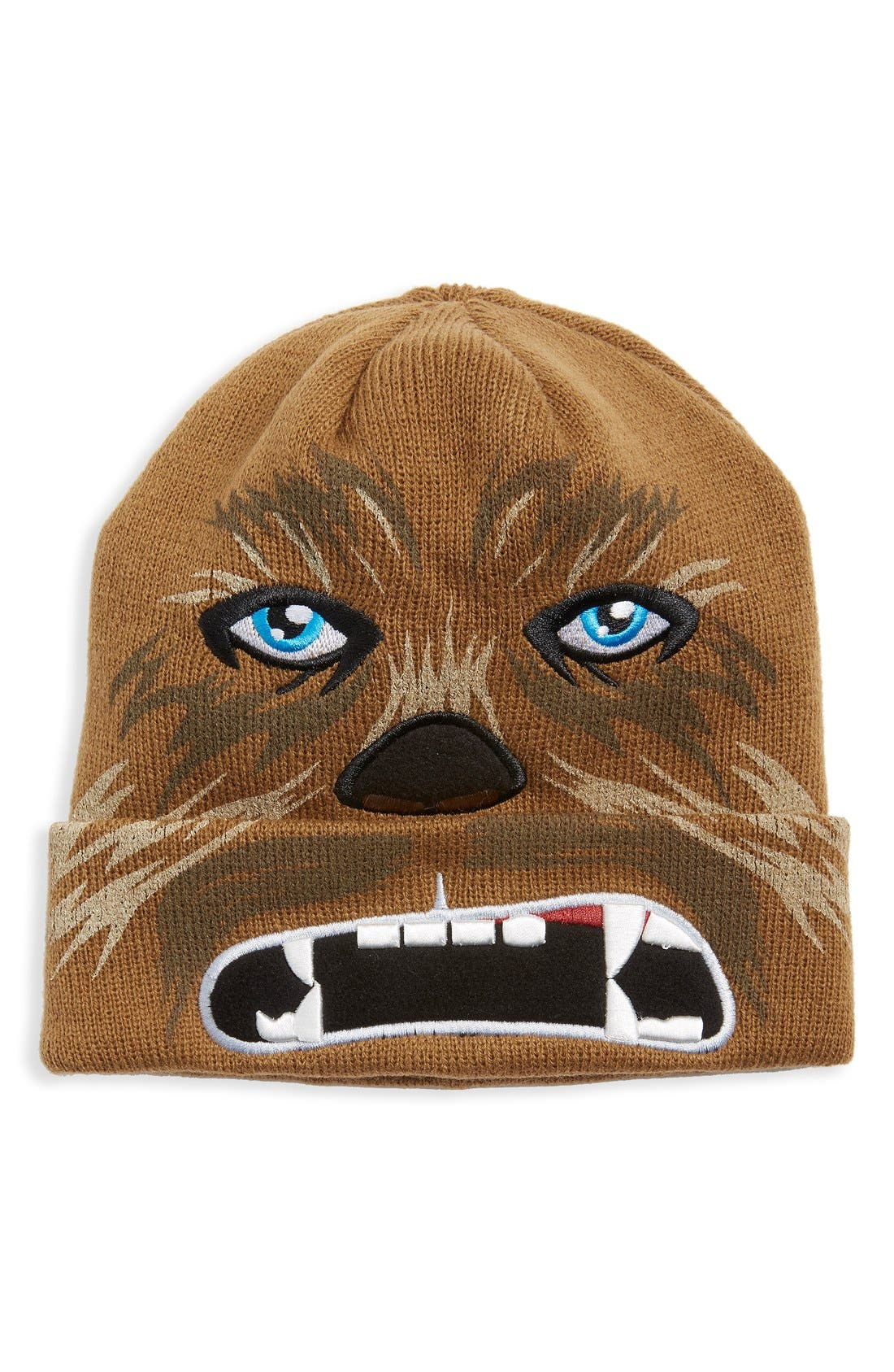 Alternate Image 1 Selected - Star Wars 'Chewbacca' Rib Knit Beanie (Big Boys)