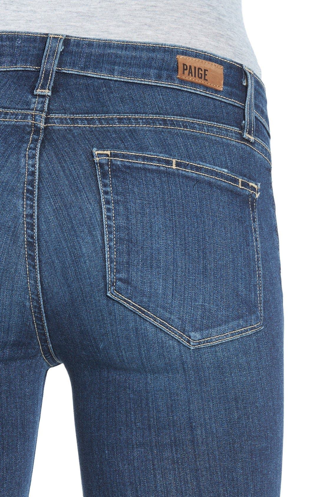 Alternate Image 4  - Paige Denim 'Transcend - Verdugo' Ultra Skinny Jeans (Elia Destructed)
