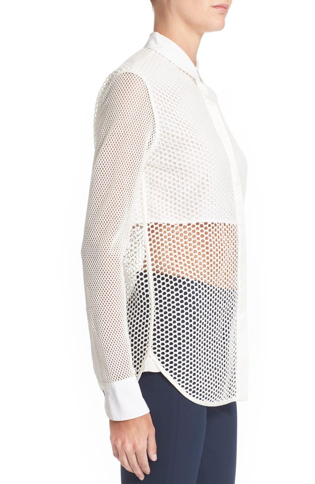 Alternate Image 3  - rag & bone 'Luna' Stretch Cotton Mesh Shirt