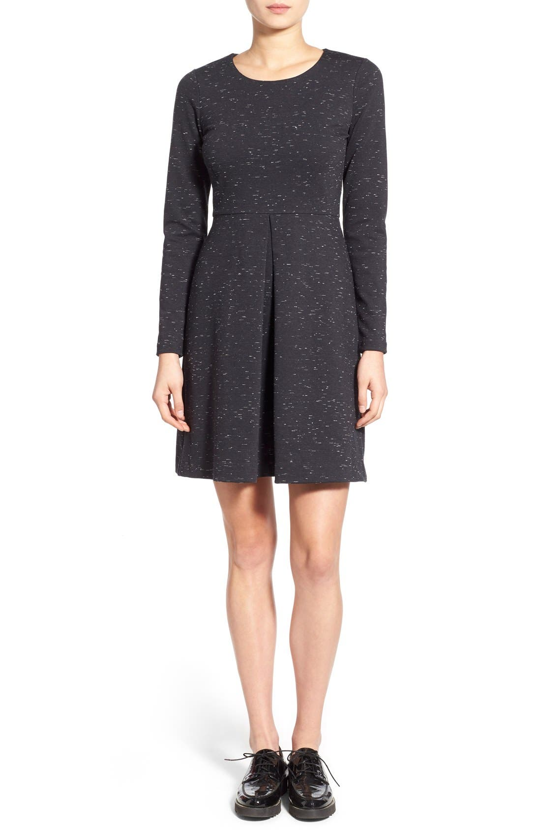 Alternate Image 3  - Madewell 'Gia' Marled Fit & Flare Dress