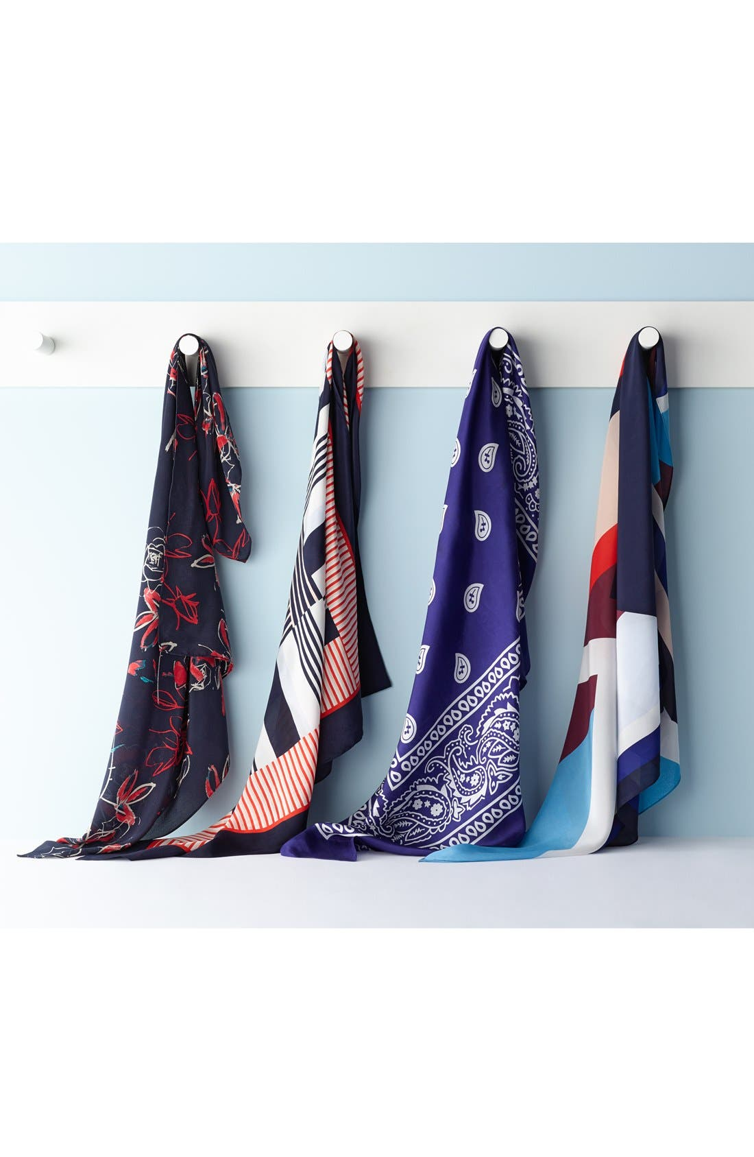 Alternate Image 2  - Halogen® 'Starboard' Sandwashed Silk Scarf