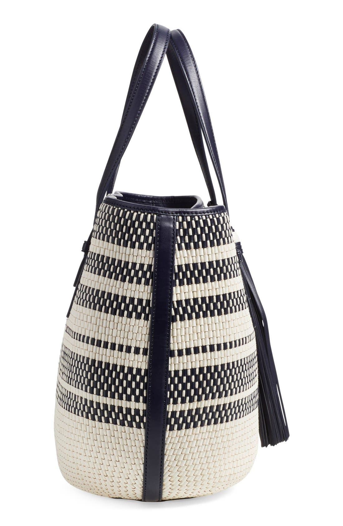 Alternate Image 5  - Tory Burch Woven Leather Tote