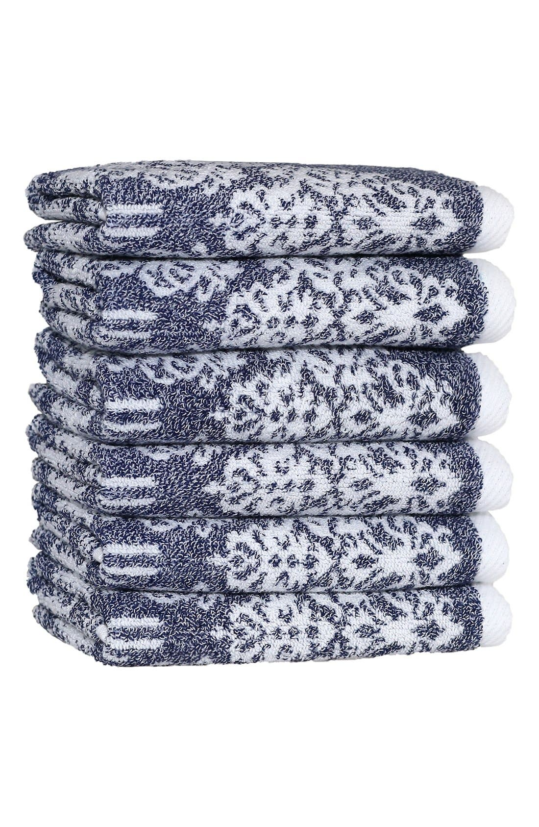 Linum 'Gioia' Turkish Cotton Washcloths (Set of 6)