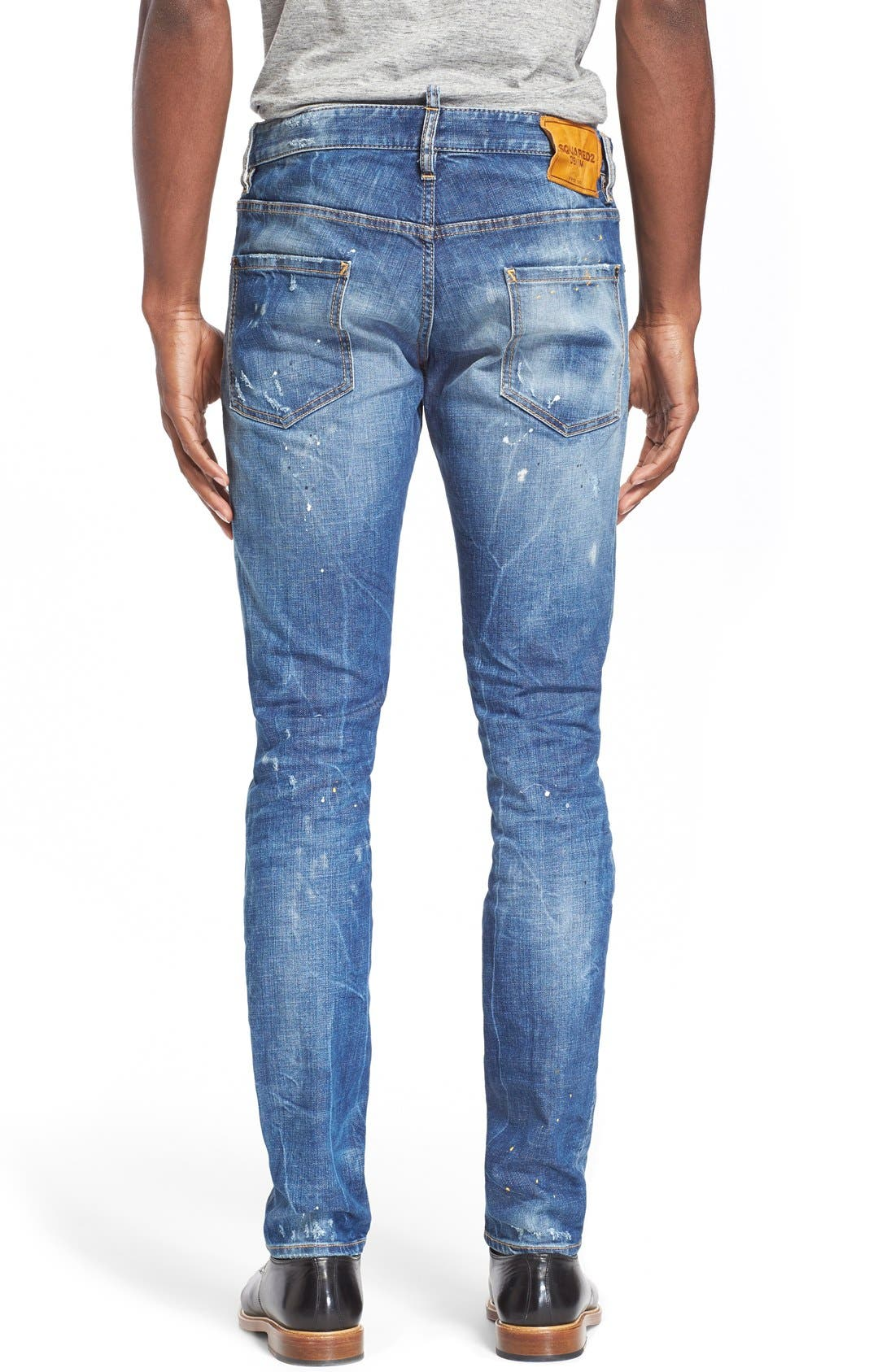 Alternate Image 2  - Dsquared2 'Cool Guy' Ripped & Repaired Slim Fit Jeans