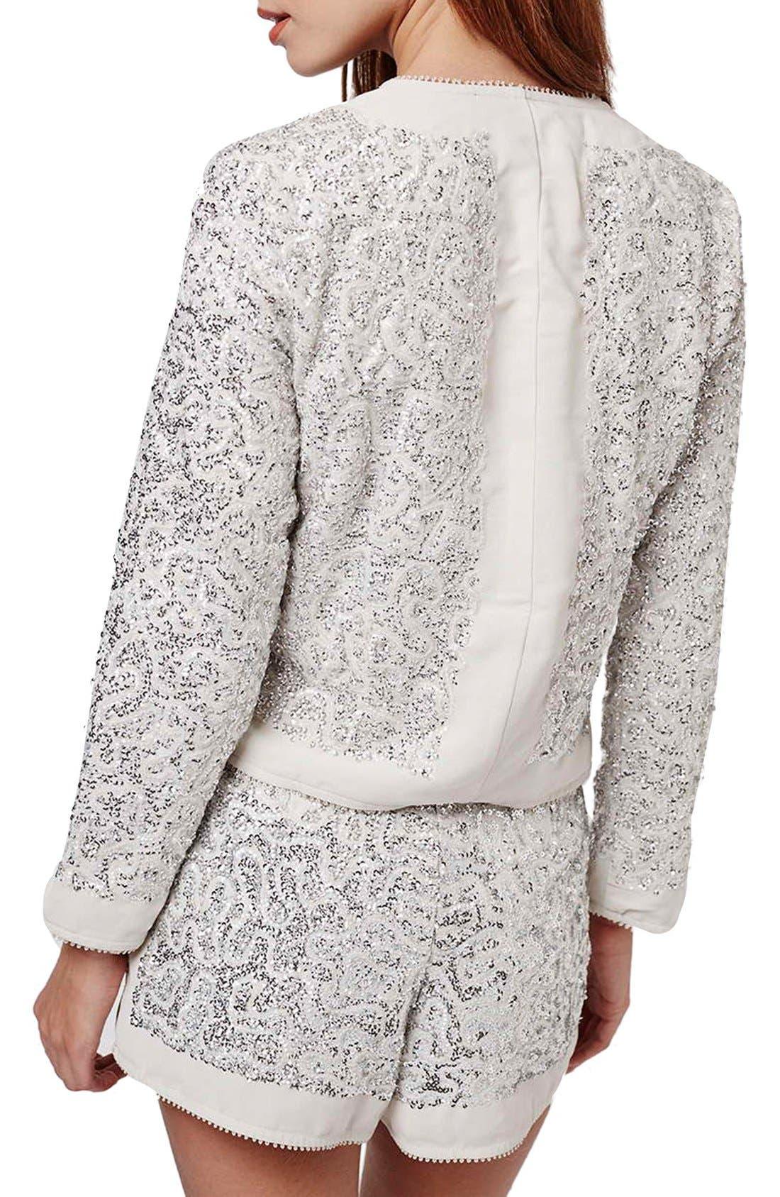 Alternate Image 3  - Topshop Sequin Embellished Jacket (Petite)