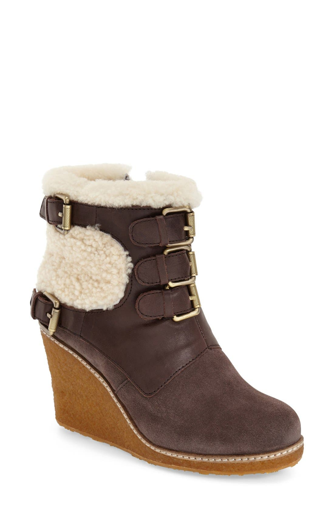 Alternate Image 1 Selected - Australia Luxe Collective 'Monk' Genuine Calf Hair & Shearling Boot (Women)