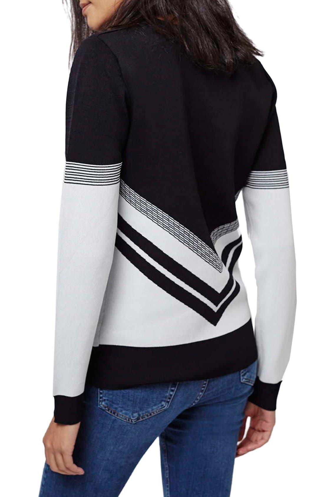 Alternate Image 3  - Topshop Chevron Colorblock Sweater
