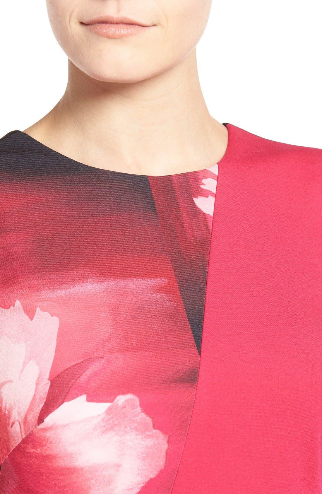 Alternate Image 4  - Ellen Tracy Colorblock Peplum Top (Regular & Petite)
