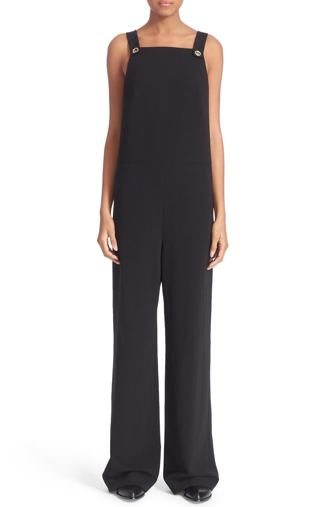 Alternate Image 1 Selected - T by Alexander Wang Twill Jumpsuit with Strap Detail