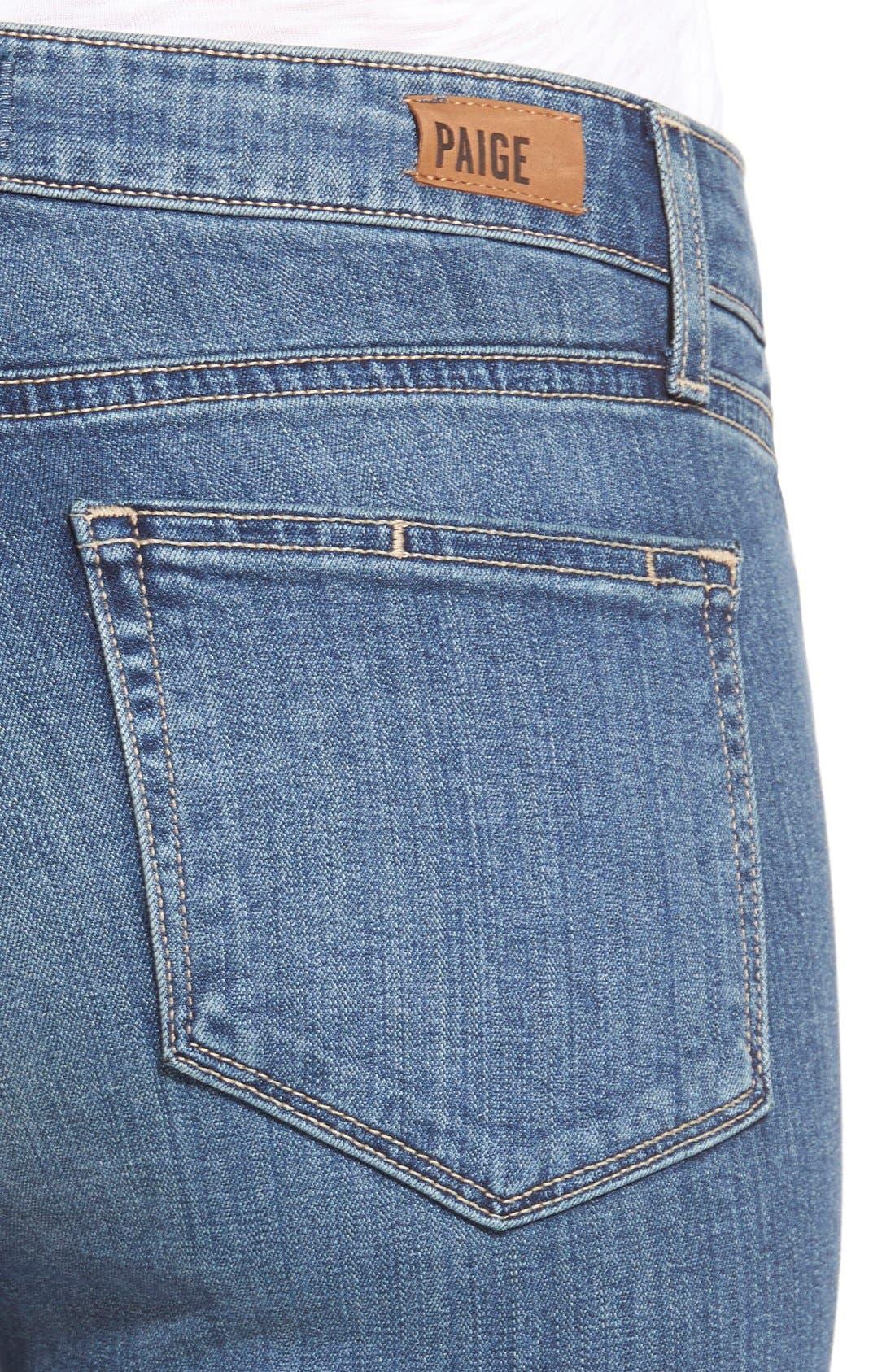 Alternate Image 4  - Paige Denim 'Transcend - Hoxton' High Rise Ankle Ultra Skinny Jeans (Linden)