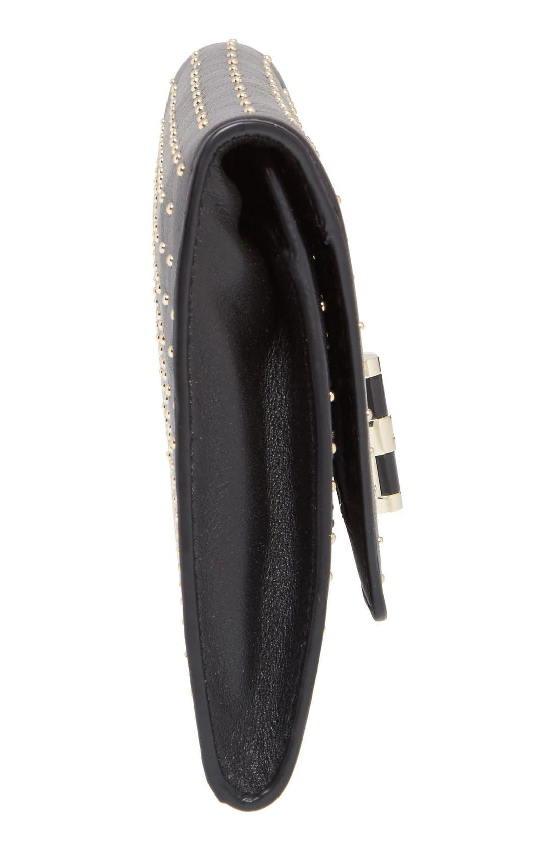 Alternate Image 5  - Diane von Furstenberg '440 Glory Uptown' Studded Leather Clutch
