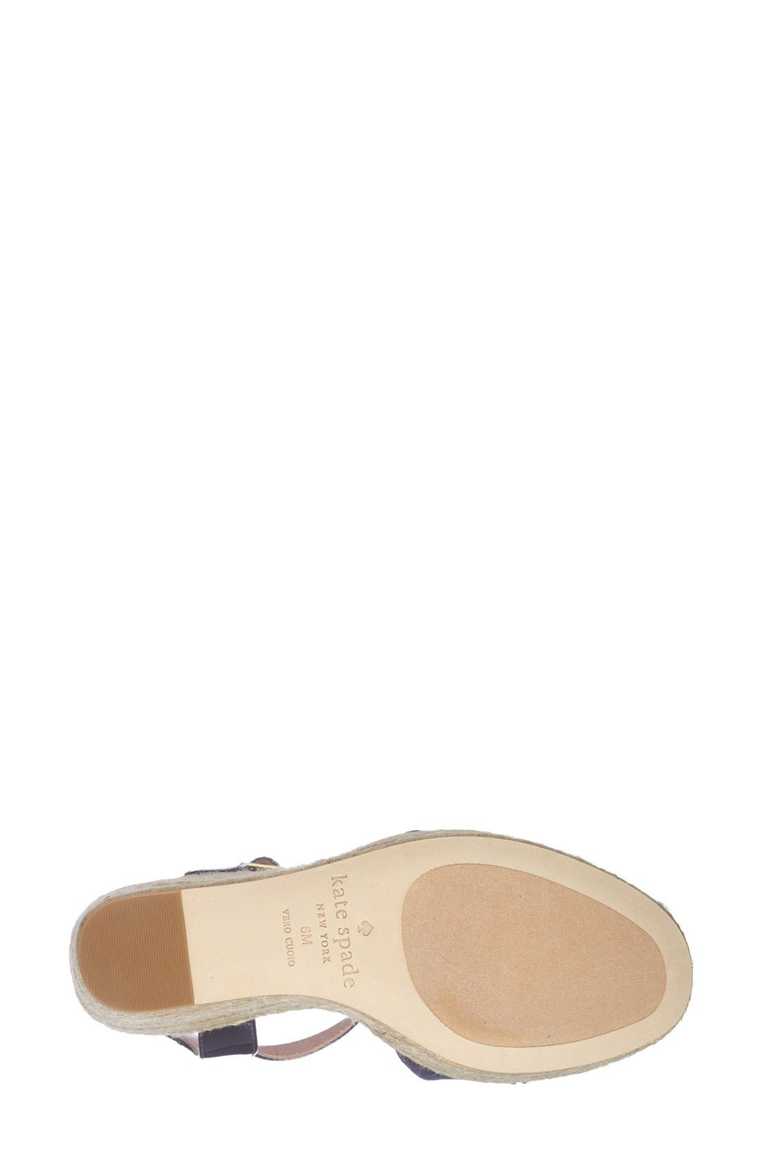 Alternate Image 4  - kate spade new york 'darya' wedge sandal (Women)
