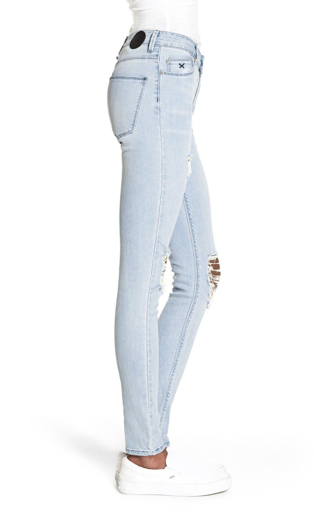 Alternate Image 3  - RES Denim 'Kitty' Skinny Jeans (Love Moves Destroyer)