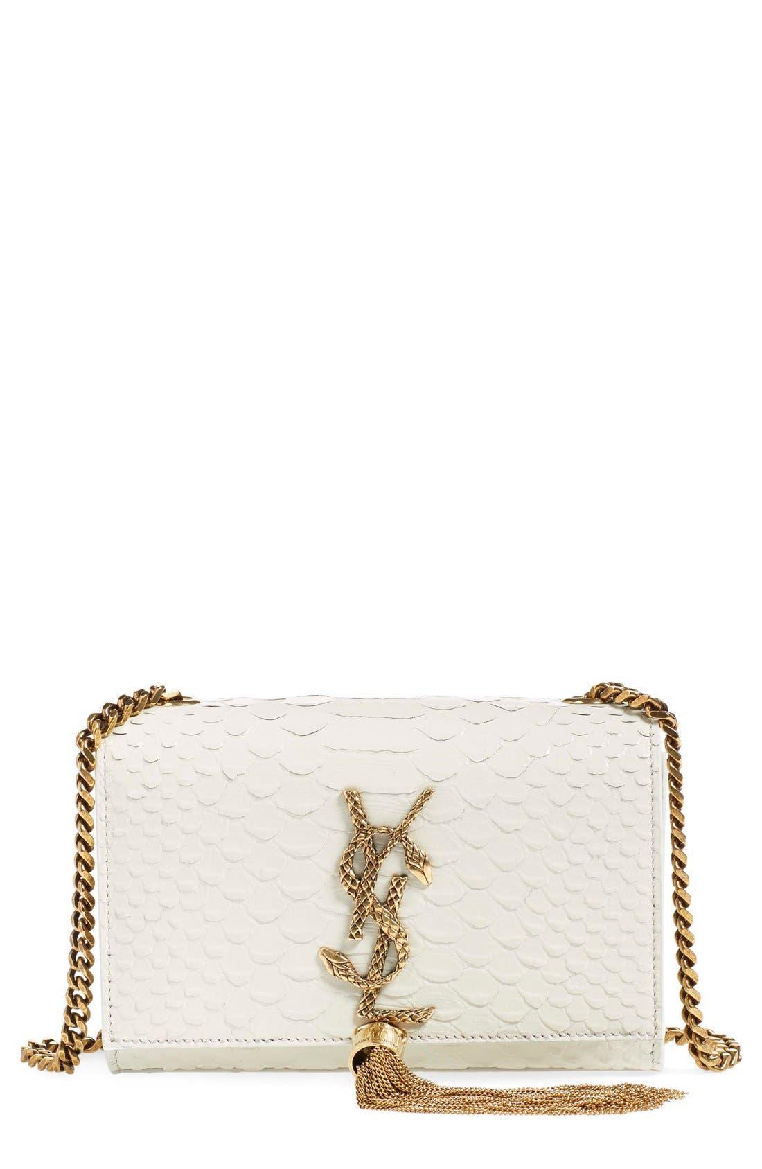 Main Image - Saint Laurent 'Mini Monogram - Serpent' Tassel Crossbody Bag