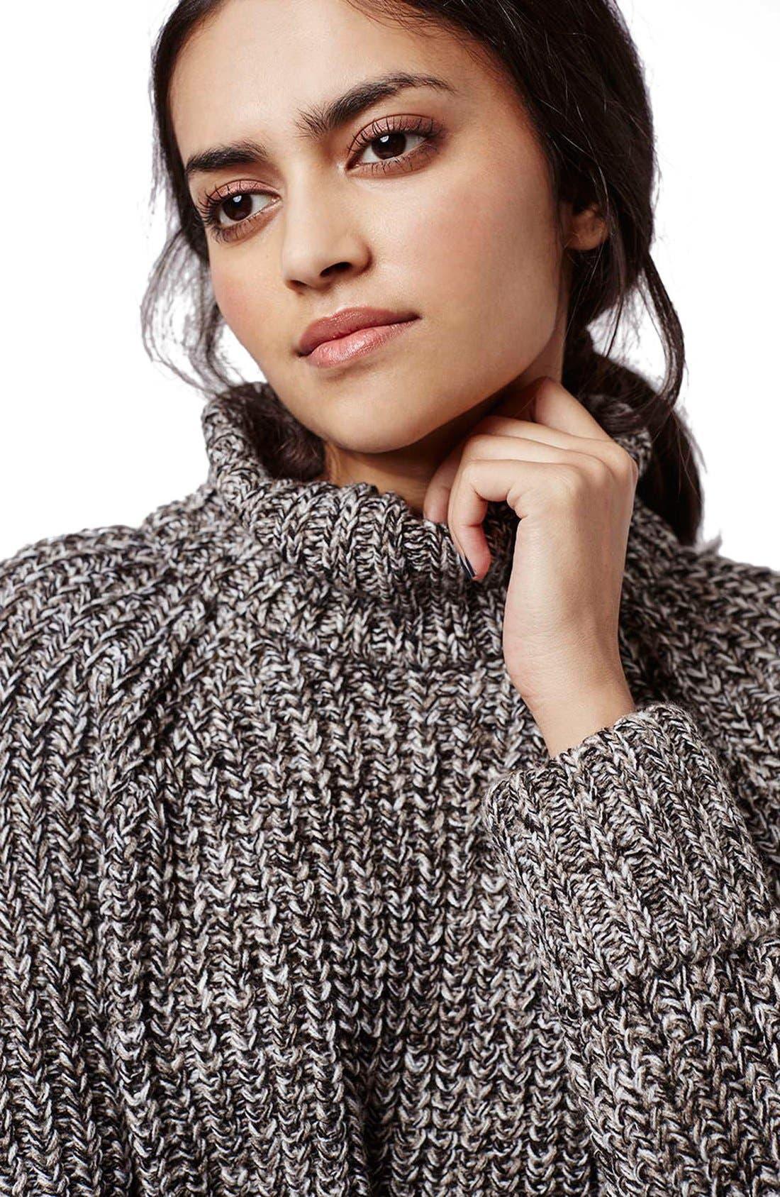 Alternate Image 5  - Topshop Rolled Turtleneck Sweater