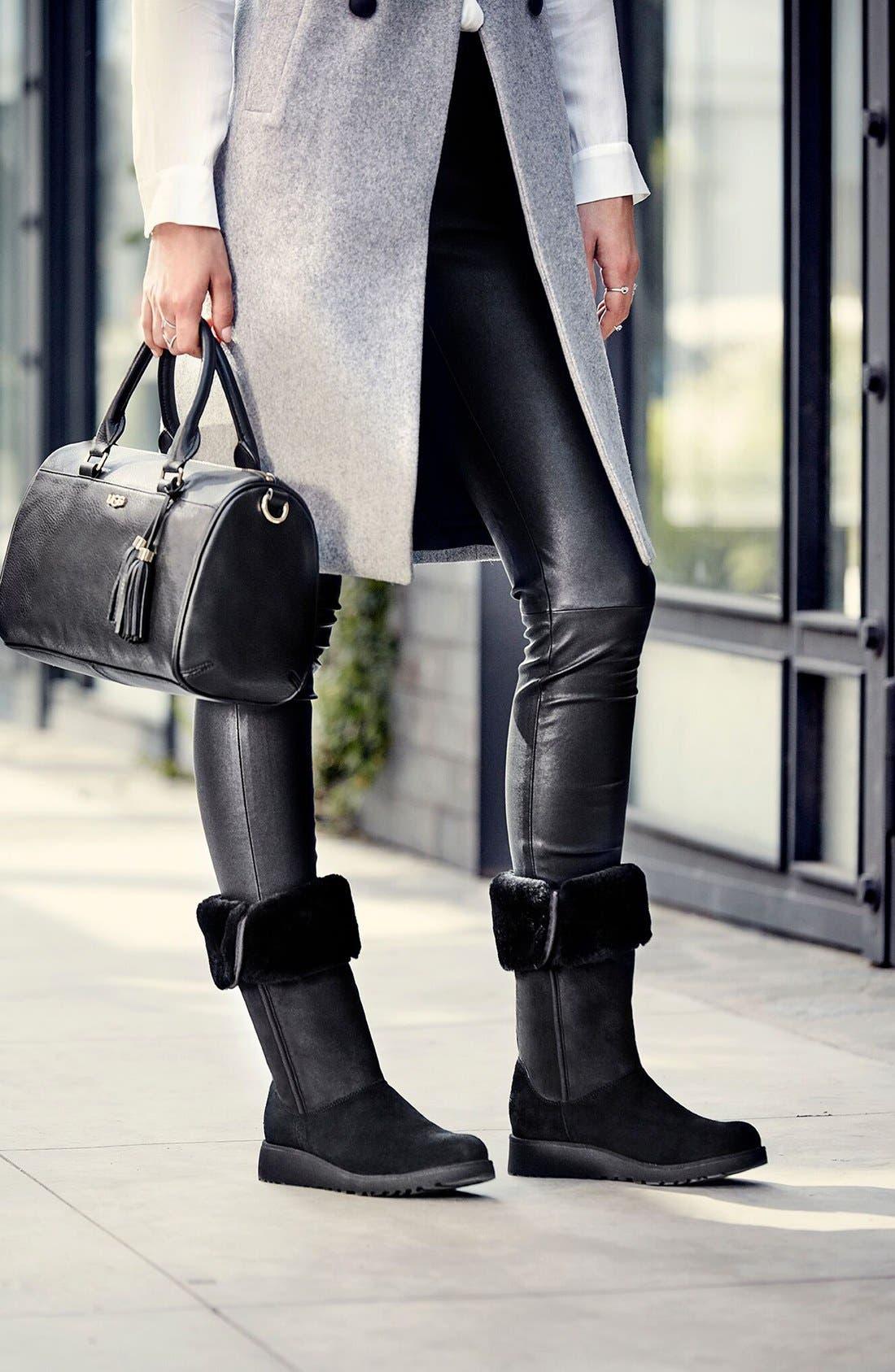 Alternate Image 6  - UGG® Kara - Classic Slim™ Water Resistant Tall Boot (Women)