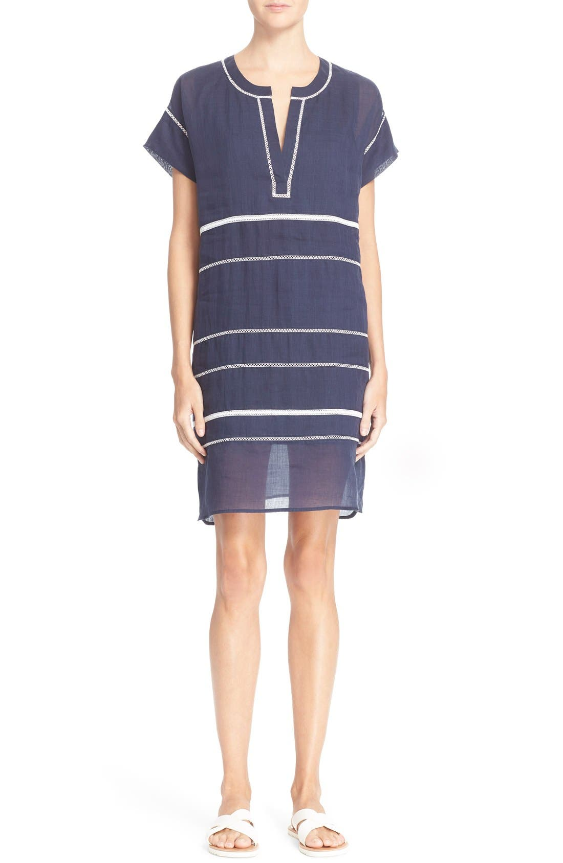 Main Image - Vince Lace Inset Popover Dress