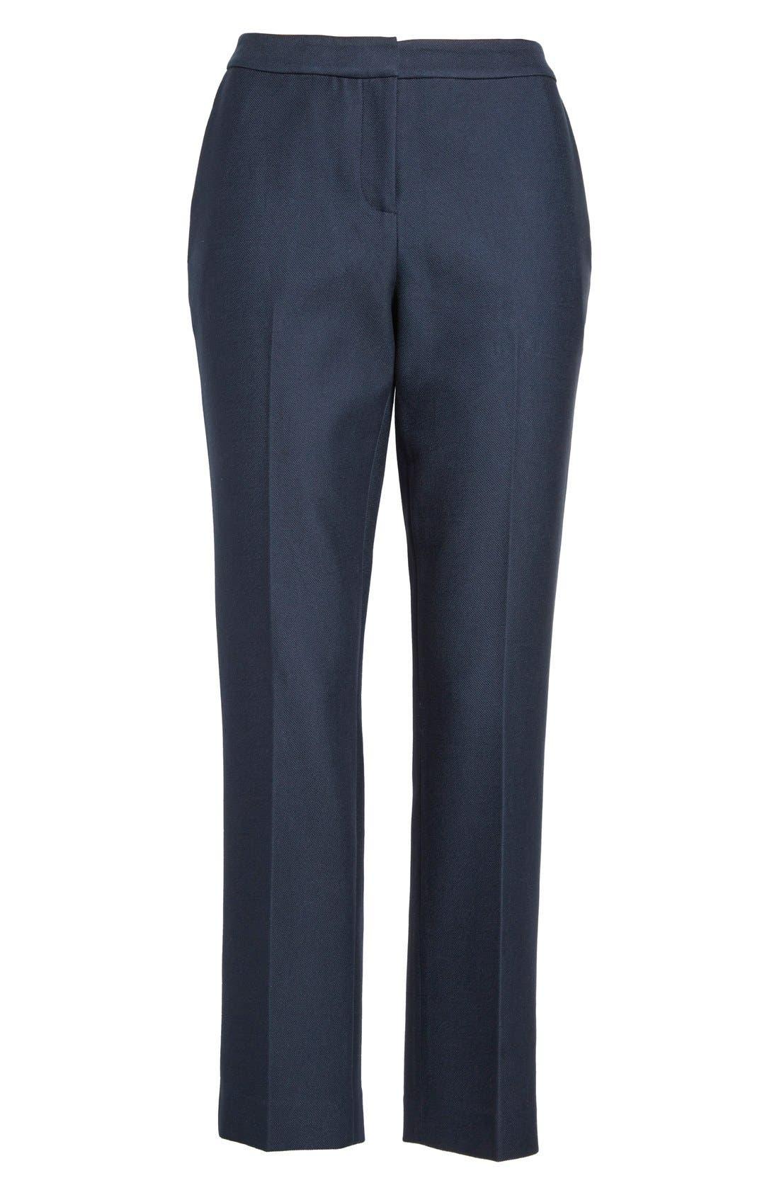 Alternate Image 4  - Nordstrom Signature and Caroline Issa 'Raindrop' Slim Cotton Ankle Pants