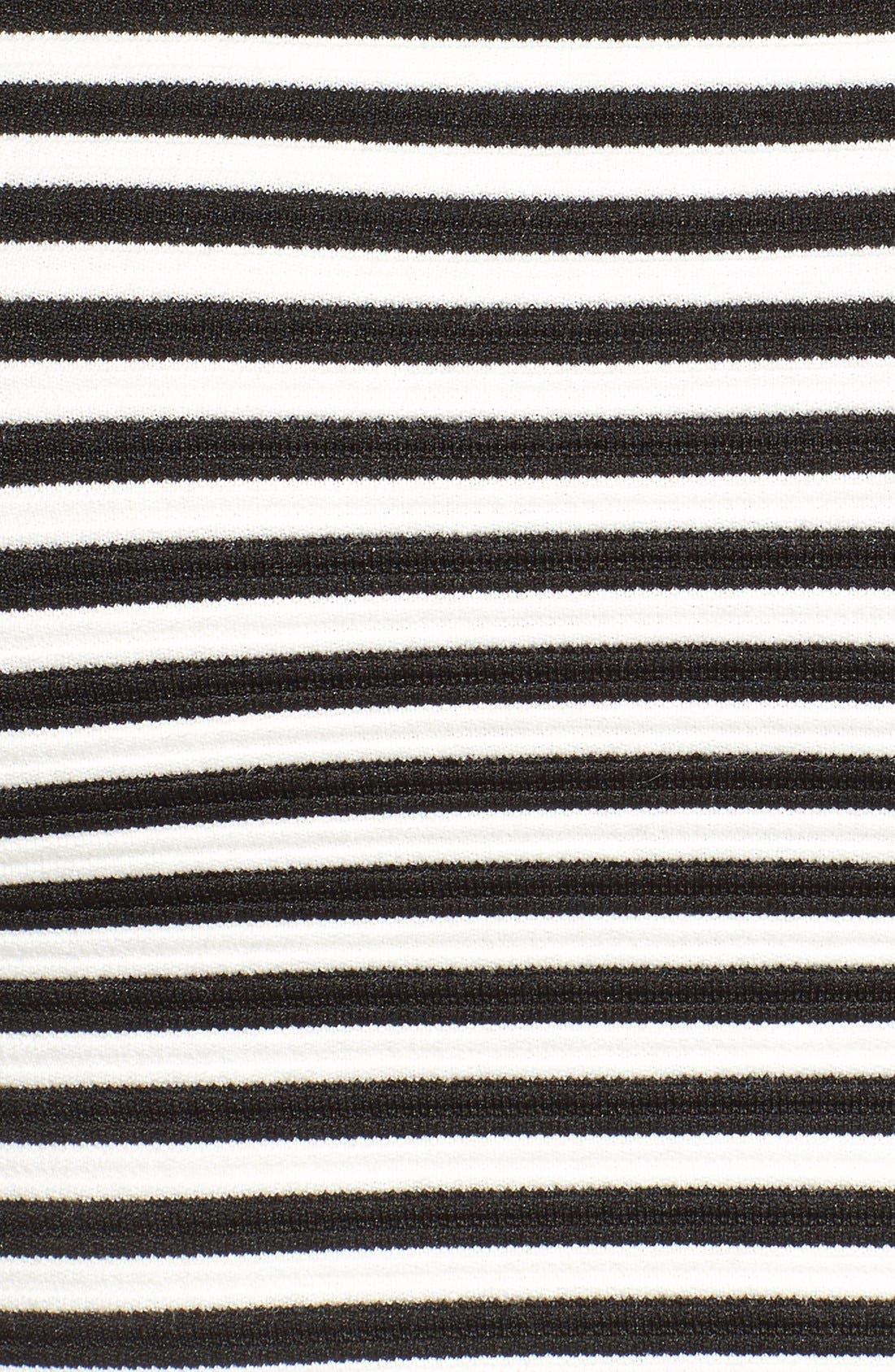 Alternate Image 4  - Missguided Stripe Bandeau Crop Top