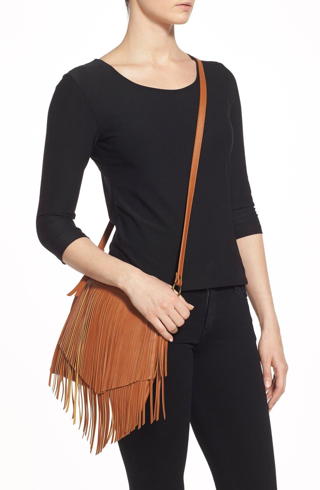 Alternate Image 2  - BP. Layered Fringe Crossbody Bag