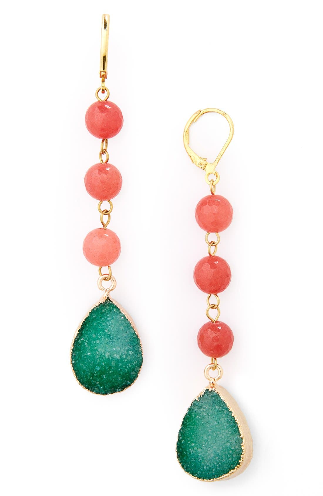 Main Image - Panacea Drusy Drop Earrings