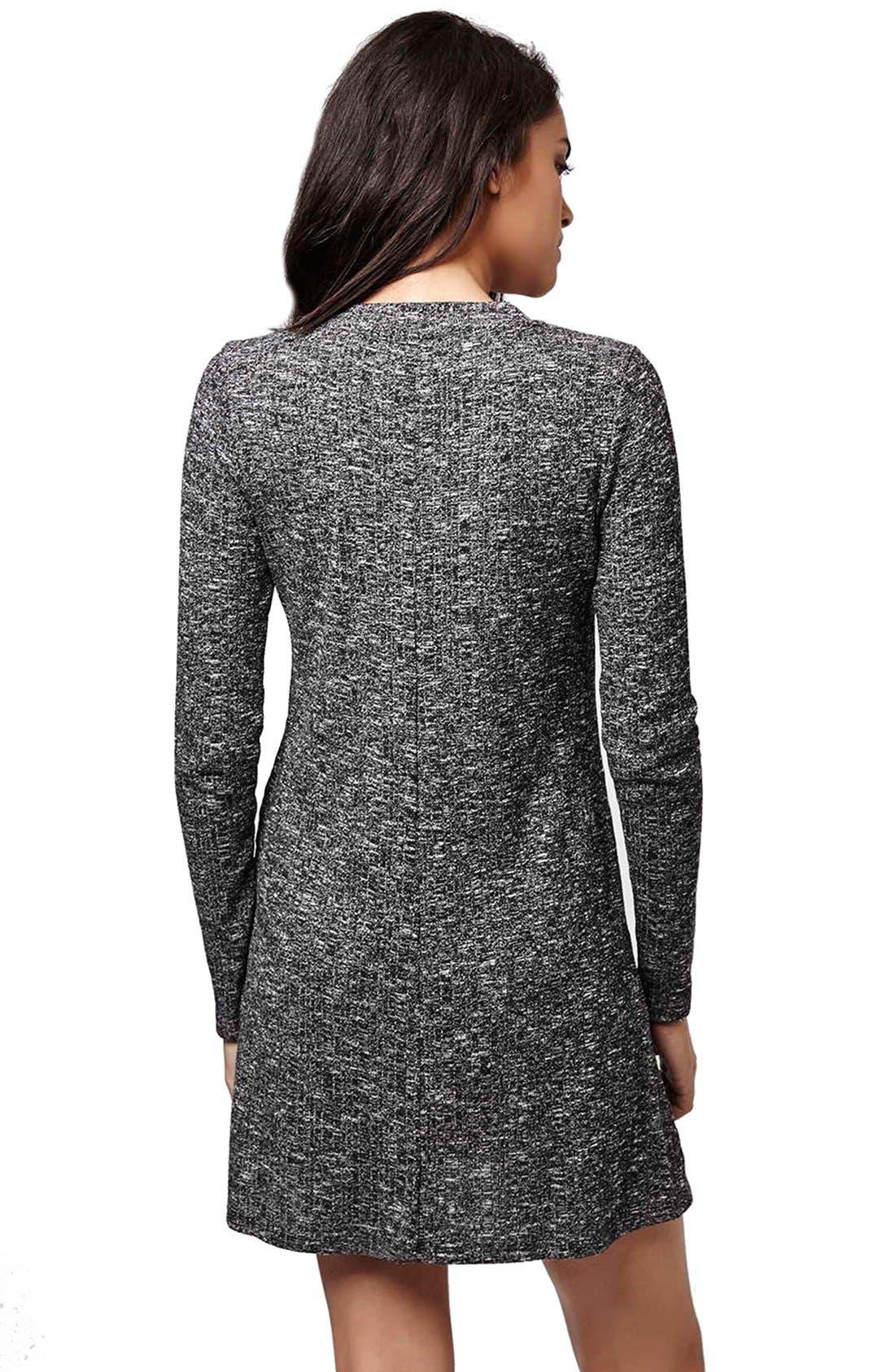 Alternate Image 3  - Topshop Ribbed Long Sleeve Tunic Dress
