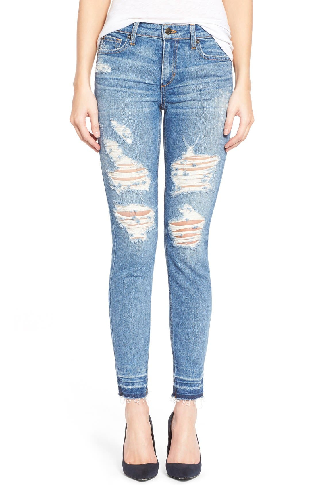 Main Image - Joe's 'Collector's - Icon' Destroyed Ankle Skinny Jeans (Mazie)