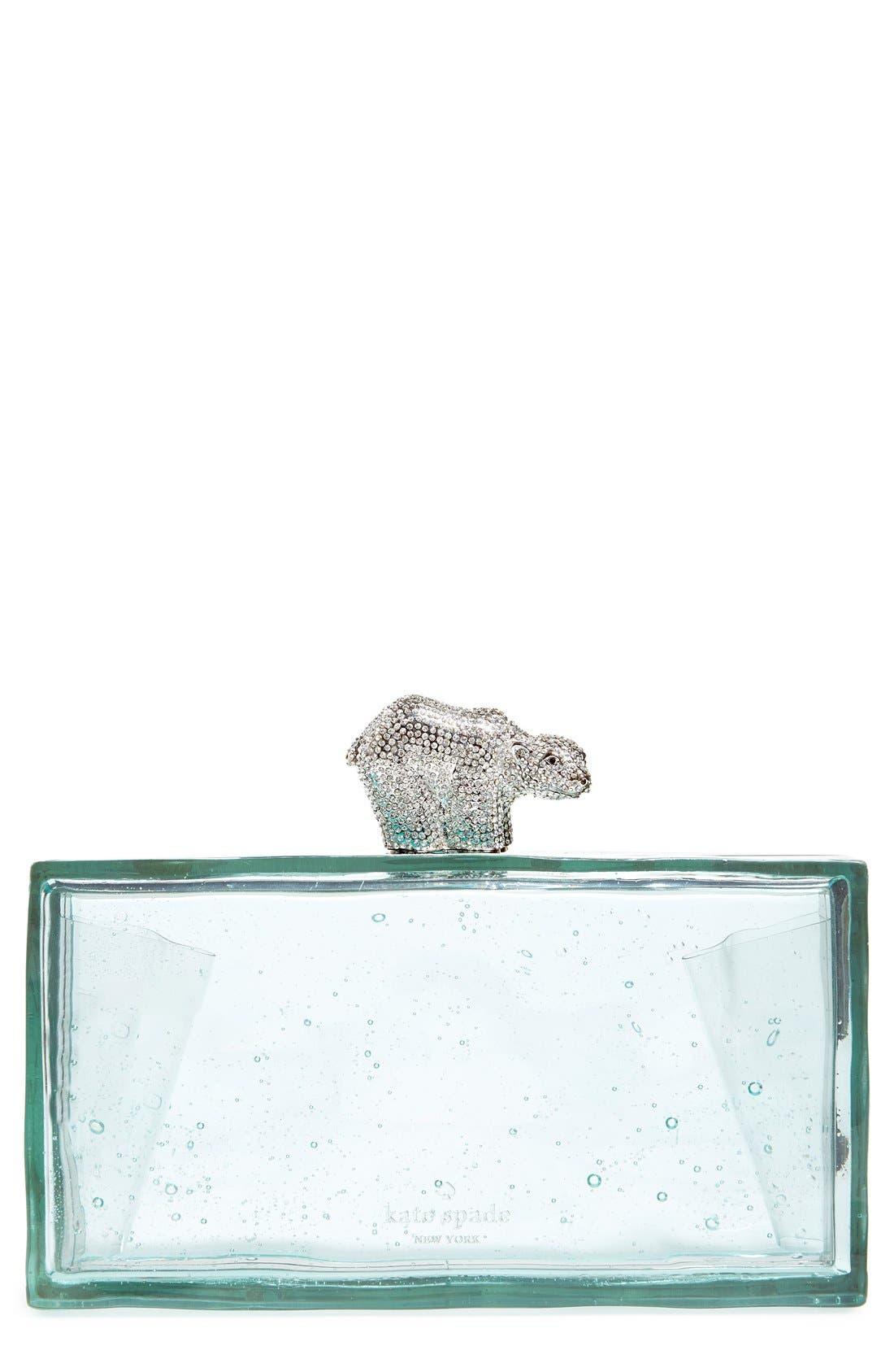 Alternate Image 1 Selected - kate spade new york 'polar bear on ice' clutch