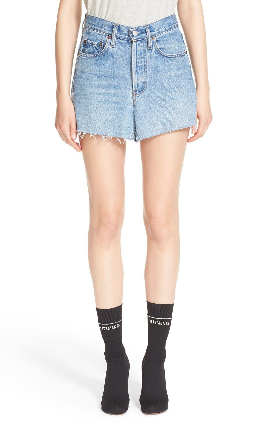Main Image - Vetements Denim Mini Skirt